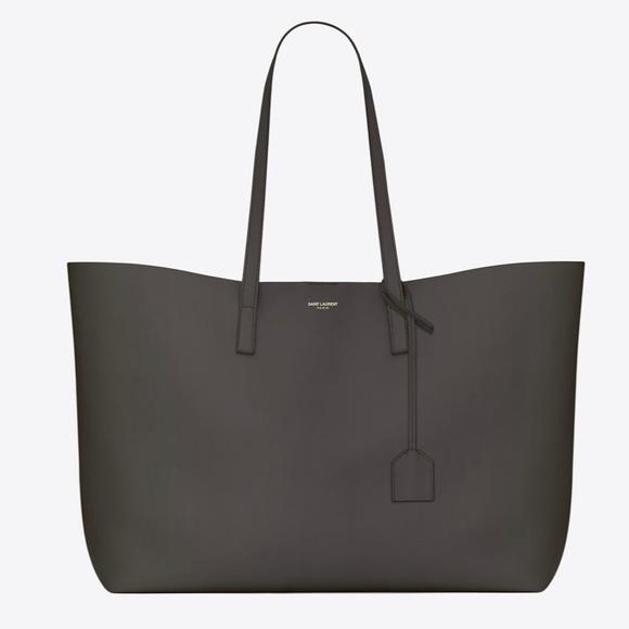 Saint Laurent Handbags - Saint Laurent Medium Grey (Earth Grey) Tote